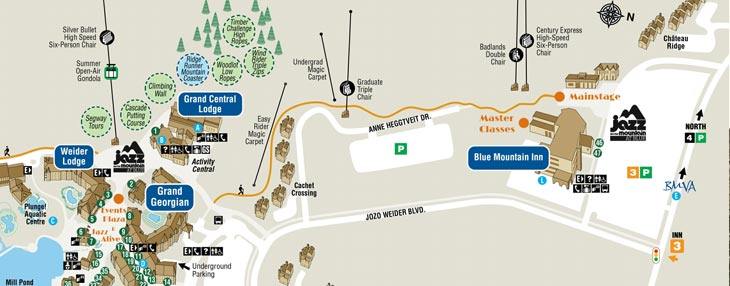Blue Mountain Village Map